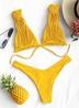 solid color sexy tube top split triangle bikini   NSHL2643