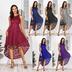 fashion sexy evening dress lace dress mid-length dovetail skirt NSAL2923