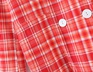Wholesale autumn blogger retro red plaid double-breasted casual suit jacket  NSAM3106