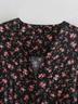autumn print long sleeve v-neck dress NSAM3140
