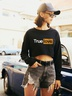 autumn and winter women's sweaters popular printing casual short navel NSSN3183