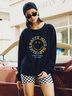 new autumn and winter women's round neck long sleeve street casual NSSN3192