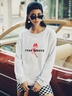new autumn and winter women's round neck long sleeve street casual NSSN3193