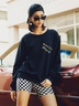 new autumn and winter women's round neck long sleeve street casual NSSN3194