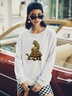 new autumn and winter women's round neck long sleeve street casual NSSN3196