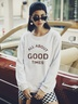 new autumn and winter women's round neck long sleeve street casual NSSN3198