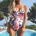 new sling print sexy one-piece swimsuit hot swimwear NSHL3298