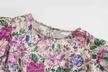 autumn silk texture printed dress NSAM3596