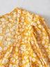 autumn floral puff sleeve dress  NSAM3612