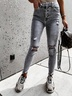 fashion ripped holes slim jeans trousers NSYF3625