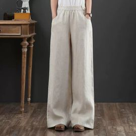 autumn new Korean wide-leg casual pants women's straight loose drape slim long pants NSYF3630
