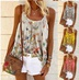 summer new women's butterfly print sling large size loose vest NSYF3652