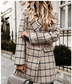 new long-sleeved suit collar double-breasted woolen coat  NSYF3837
