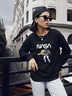 new autumn and winter women's round neck long sleeve street casual NSSN4052