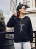 new autumn and winter women's round neck long sleeve street casual NSSN4058