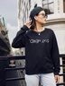 new autumn and winter women's round neck long sleeve street casual NSSN4060