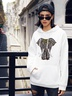 autumn and winter women's popular elephant print casual hooded sweater NSSN1860