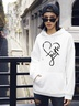 autumn and winter women's street casual hooded sweater love printing NSSN1876
