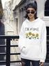 autumn and winter women's street casual hooded sweater hot sunflower NSSN1879