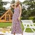 printed floral split casual dress long skirt NSAL2107