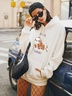 new print loose large size hooded sweater women NSSN2261