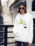 women's funny banana hooded sweater NSSN2262