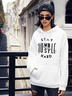 autumn and winter women's casual letter hooded sweater NSSN2263