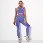 Seamless Knitted Quick-drying Shockproof Yoga Suit  NSLX9022