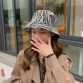 Zebra Pattern Retro Fashion Hat NSCM10099
