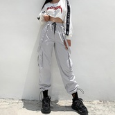 Fashion Suspenders Waistband Loose Overalls Pants NSLQ12409