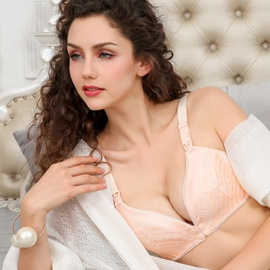 Women's Cotton No Steel Ring Comfortable And Breathable Underwear Bra  NSXY8564