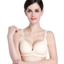 Pure Cotton No Steel Ring Large Size Nursing Bra NSXY7483