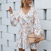 White Printed Dress NSCX7711
