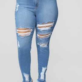 Extra-large Fashion Jeans NSCX7773