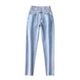 High-waist Three-button Jeans  NSLD18424