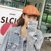 Retro Pu Leather Hat   NSTQ21357