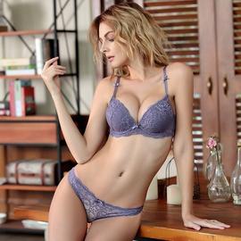 Gathered Sexy Lace Bra Set  NSSM21503