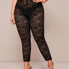 New Lace Sexy Large Size Loose Leggings NSCX21921