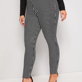 Plus Size Casual Striped Leggings NSCX21923