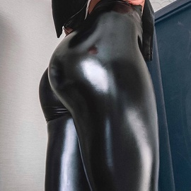 High Waist Velvet Faux Leather Legging Pants NSNS22019