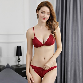 Spring And Summer New Ultra-thin Sexy No Steel Ring Bra Set NSWM23040