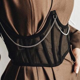 Fashion Hollow Cross See-through Girdle NSLQ24526