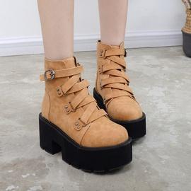 High-heel Fashion Increased Martin Boots NSHU24652