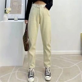 High Waist Plus Velvet Double Button Pants NSAC17586