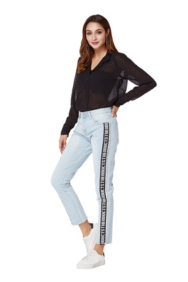 Casual Loose Ladies Jeans NSSY17692