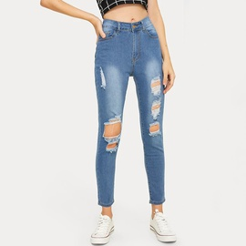 Fashion Ripped Jeans NSCX17767