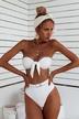 hot style metal buckle bikini split swimsuit wholesale NSDA138