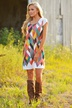 new high-definition digital printing dress wholesale NSYF1070