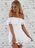 summer new women's lace one-word strapless dress NSYF1113