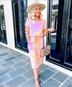 women's loose print tie-dye short-sleeved one-piece dress NSYF1116